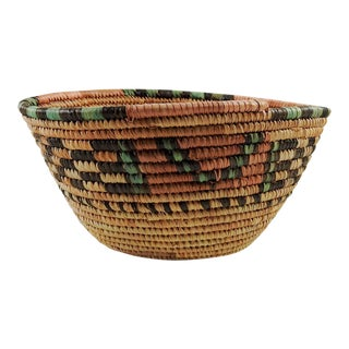 Papago Coil Basket, 1960s For Sale