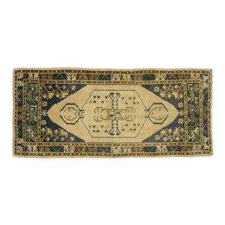 Vintage Turkish Oushak Yastik Scatter Rug - 01'09 X 03'10 For Sale