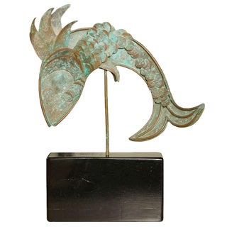 Mid-Century Modern Metal Fish Sculpture For Sale