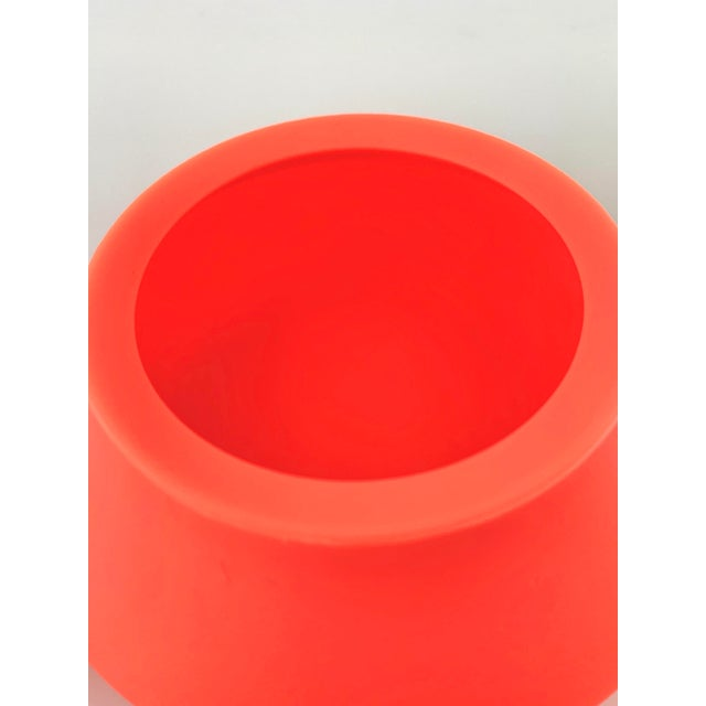 2010s Modern Orange Silicone Vessel For Sale - Image 5 of 7