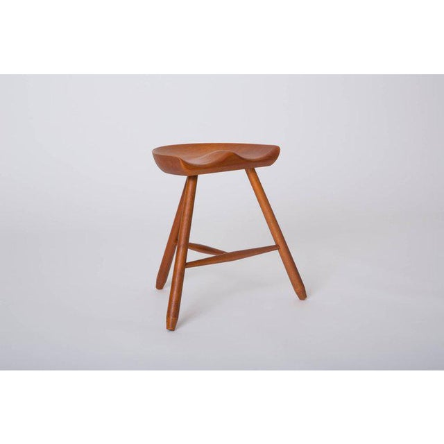 Danish Modern Milking Stool For Sale - Image 4 of 10