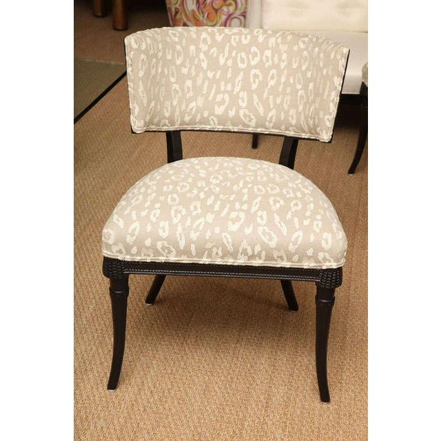 Grosfeld House Elegant Pair of Sculptural Grosfeld House Side Chairs For Sale - Image 4 of 10