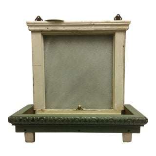 Vintage Sugar Glass Window Box Shelf For Sale