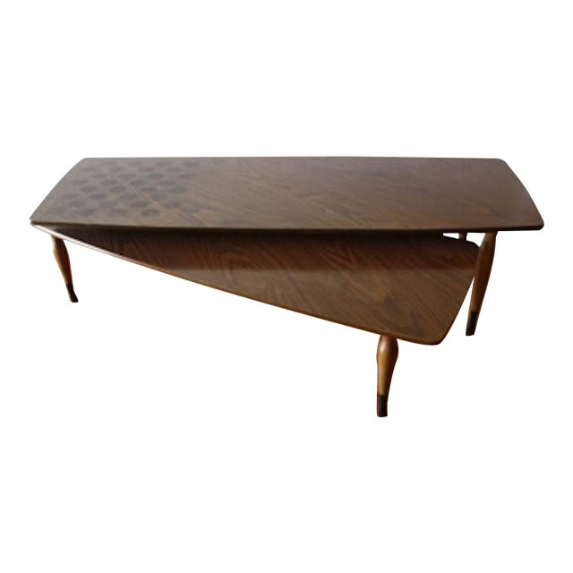 Mid Century Modern Swing Out Coffee Table Chairish