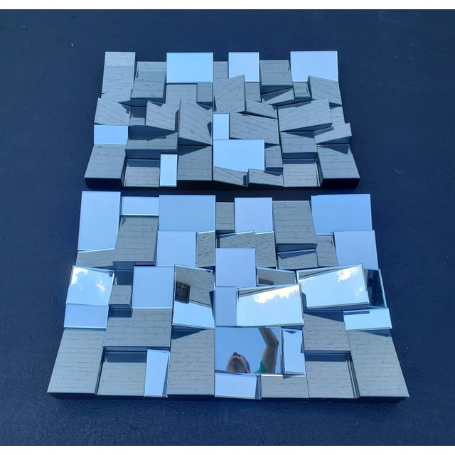 Neil Small Faceted Slopes Mirror For Sale - Image 9 of 10