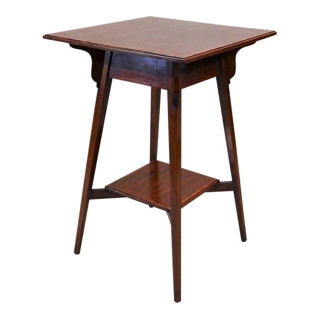 Antique English Mahogany Occasional Table Circa 1890 For Sale