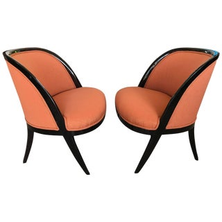 1950s Vintage Harvey Probber Slipper Chairs- a Pair