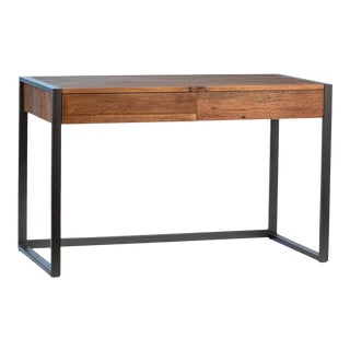 Modern Wood & Iron Desk For Sale