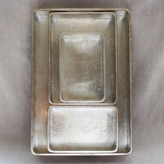 4-Piece Florentine Silver-Gilt Nesting Trays - Image 3 of 11