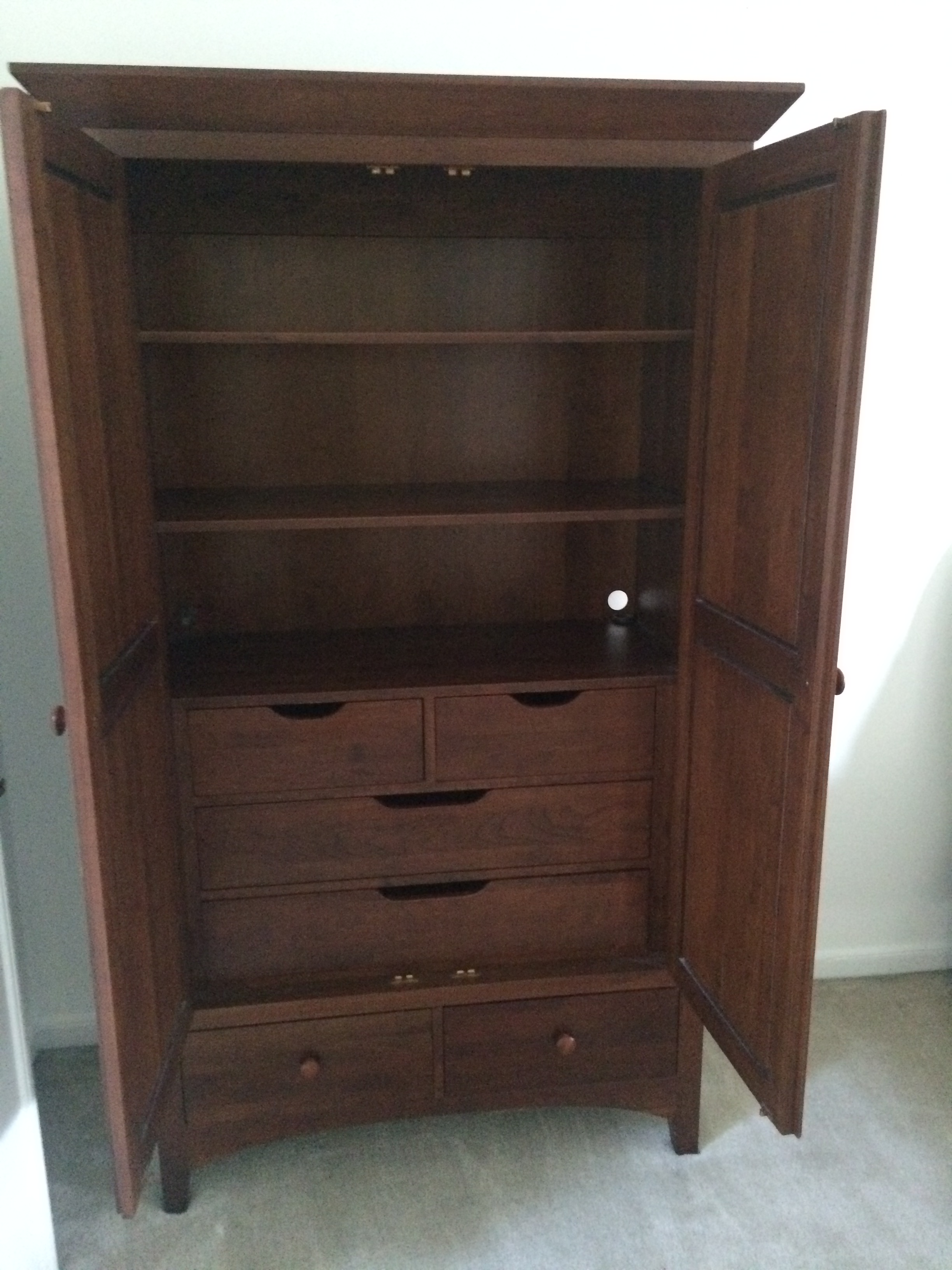 Delicieux Ethan Allen American Impressions Solid Cherry Armoire   Image 4 Of 4