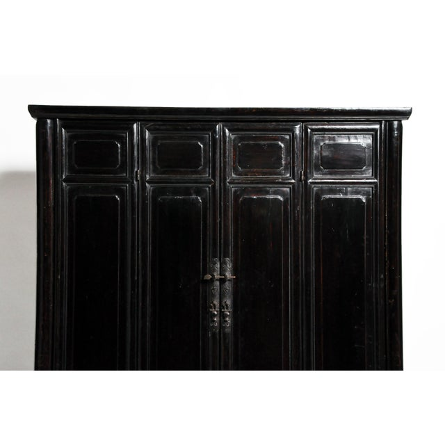 Qing Dynasty Chinese Clothing Cabinet With Four Drawers For Sale - Image 9 of 13