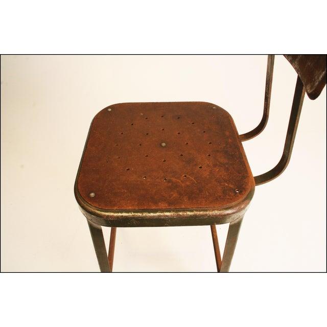 Vintage Industrial Metal Drafting Stool - Image 11 of 11