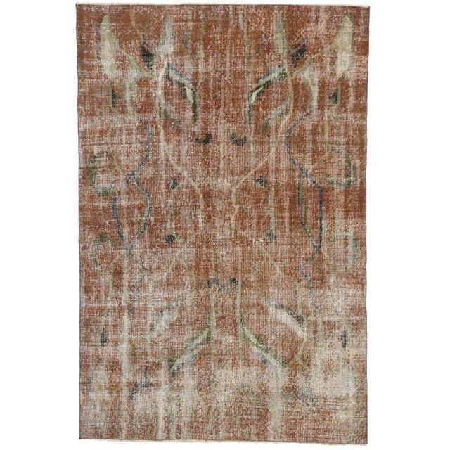 Vintage Mid-Century Turkish Zeki Muren Sivas Rug - 5′4″ × 8′ For Sale