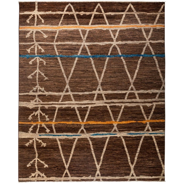 """Moroccan Style Hand Knotted Area Rug - 8'3"""" X 10' - Image 1 of 3"""