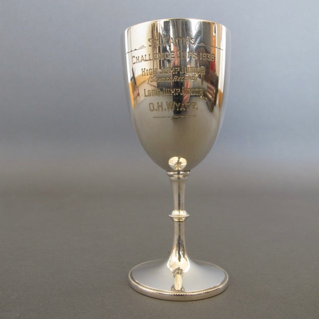 English Silver Plate Goblet Trophy - Image 2 of 6