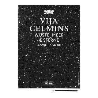 "Vija Celmins 2011 German Museum Exhibition Poster ""Wuste, Meer & Sterne (Desert, Sea & Stars)"" For Sale"