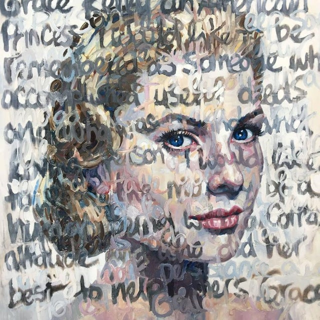 """Grace Kelly"" Oil on Canvas Painting - Image 2 of 7"