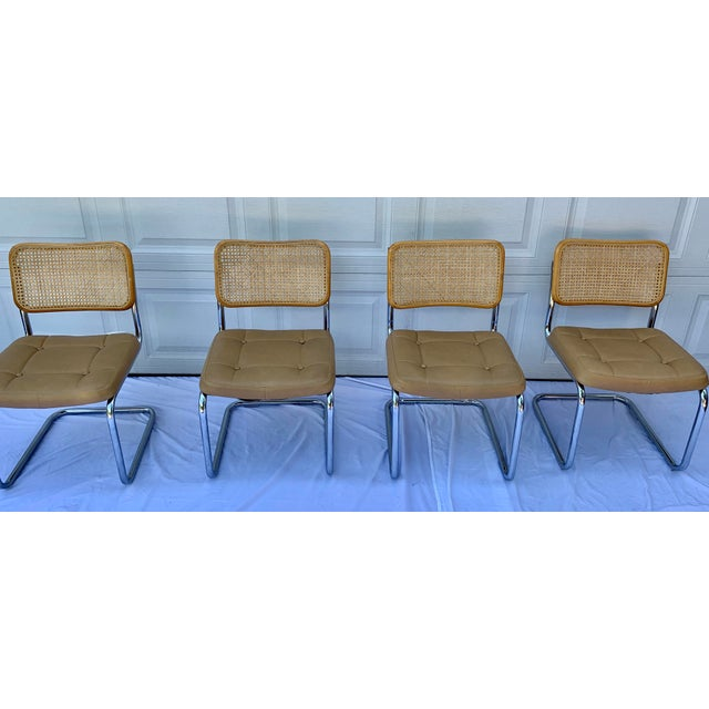 Wicker 1980s Bauhaus Wicker and Chrome Dining Set - 5 Pieces For Sale - Image 7 of 13