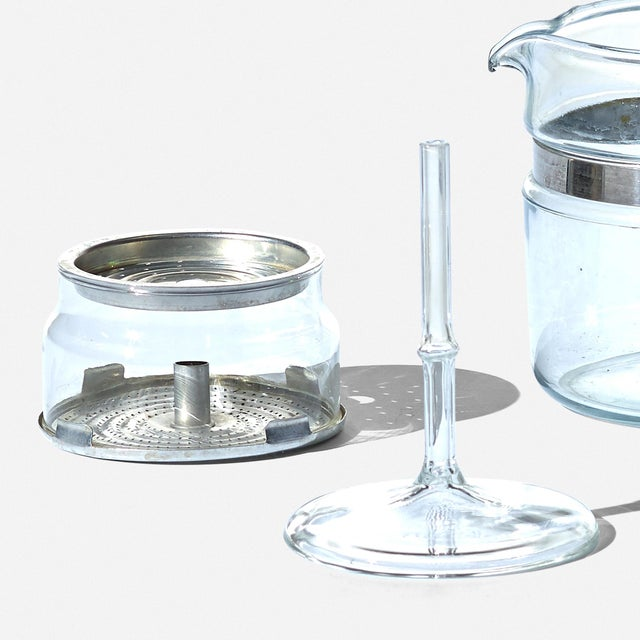 1950s Vintage Clear Glass Pyrex Percolator Coffee Pot For Sale - Image 5 of 6