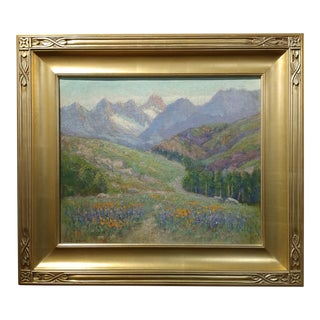 Frederick Carl Smith -California Wild Flowers-Beautiful Impressionist Landscape-Oil painting c1930s Oil painting on board -Signed