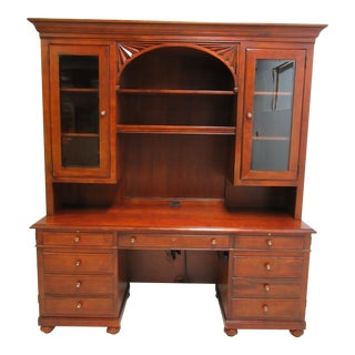 Ethan Allen British Classics Office Desk Hutch Top Cabinet