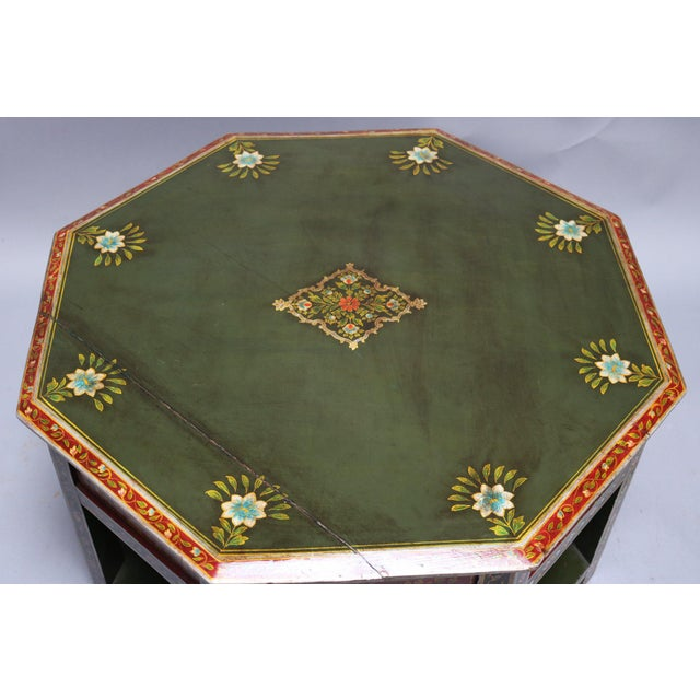 1920s Painted Wooden Coffee Table For Sale - Image 5 of 6