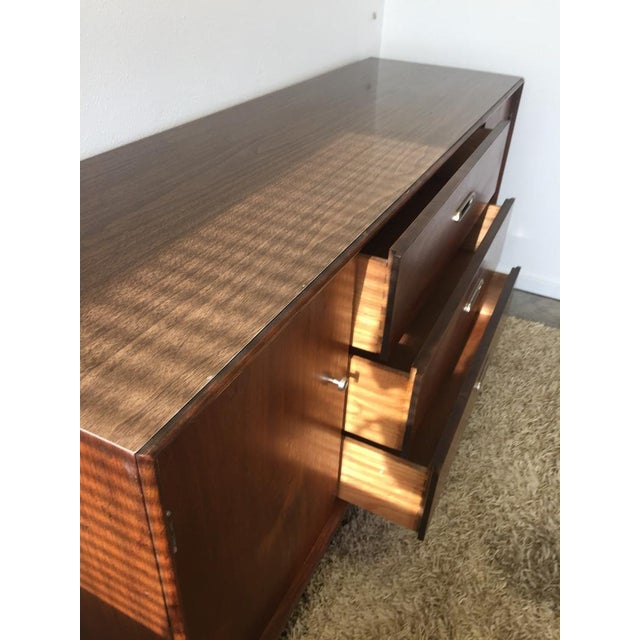 Final Markdown- Danish Mid-Century Modern Formica Credenza For Sale - Image 6 of 10