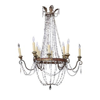 Italian Empire Chandelier From Lucca For Sale