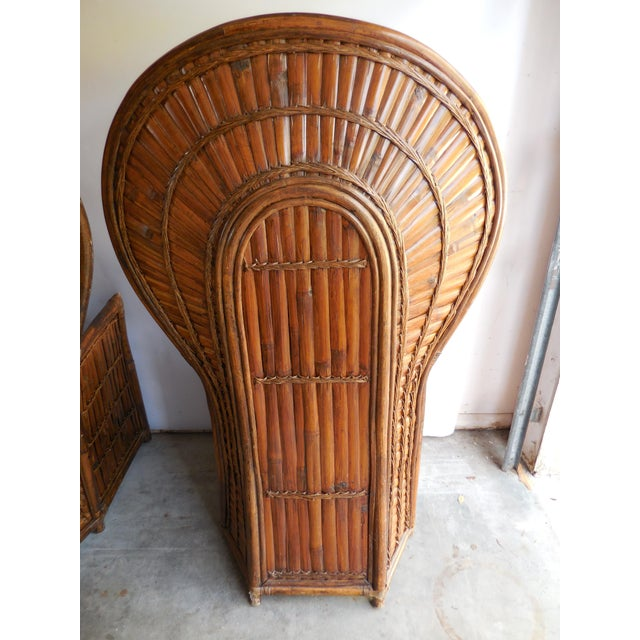 Vintage Bamboo Peacock Chairs - A Pair - Image 6 of 8