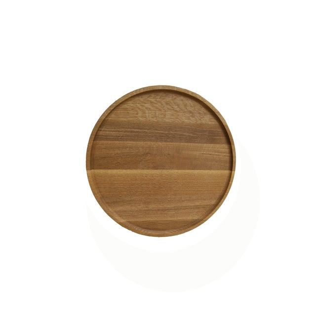 Slant Wooden Minimalist Table For Sale - Image 6 of 8