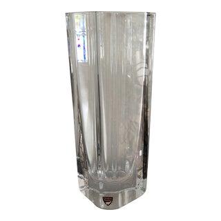 Orrefors Sweden Glass Vase For Sale
