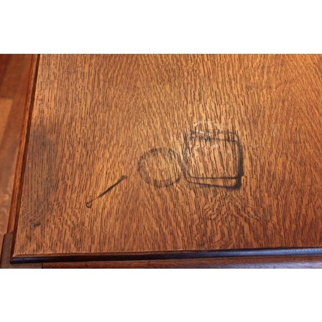 1920s 1920s Antique Stickley Desk Table Bookshelves Mission Oak Writing Desk For Sale - Image 5 of 13