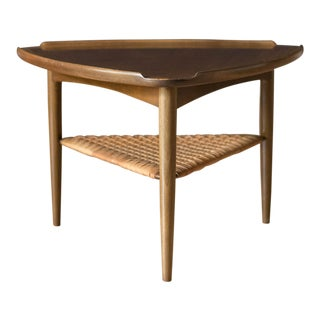 Vintage Danish Selig Triangle End Table by Poul Jensen For Sale
