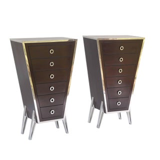 Parisian Mid Century Modern Chests - a Pair For Sale
