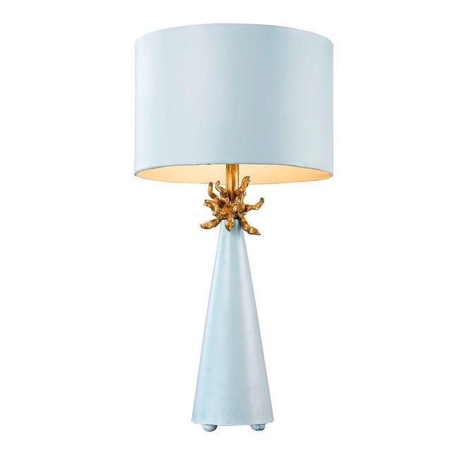 2010s Le Ciel Blue Table Lamp For Sale - Image 5 of 7