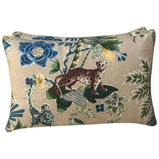 Cowtan & Tout Printed Jungle Pillows - A Pair