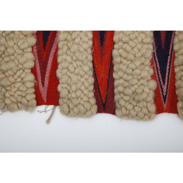 1960s Vintage Wool & Flatweave Wall Hanging - Image 4 of 4