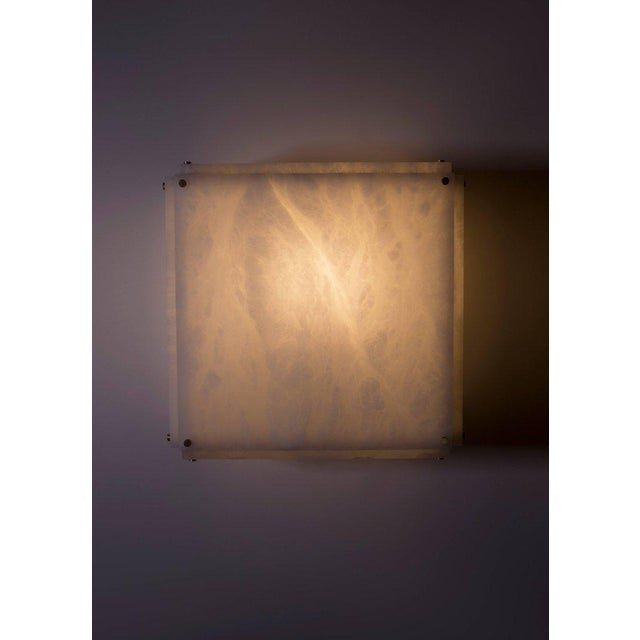 Modern Contemporary 001a Flush Mount in Alabaster by Orphan Work For Sale - Image 10 of 10