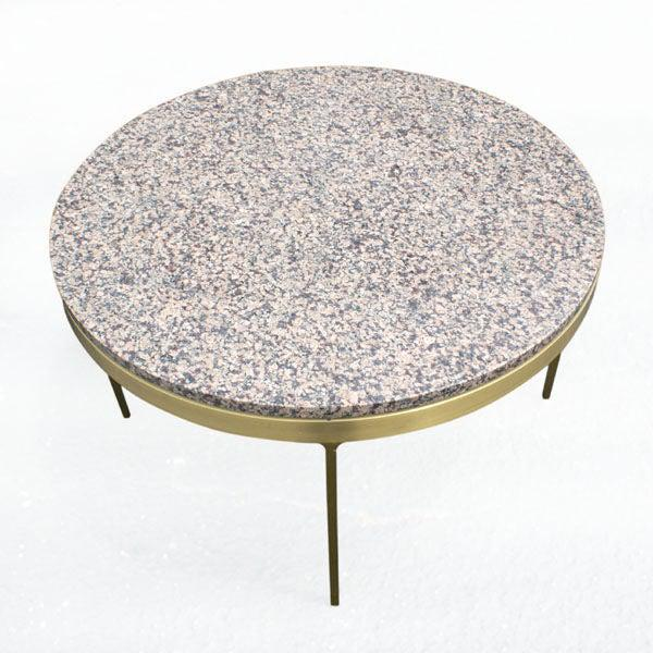 Mid-Century Modern Pair of Nicos Zographos Bronze and Granite Side Tables For Sale - Image 3 of 6