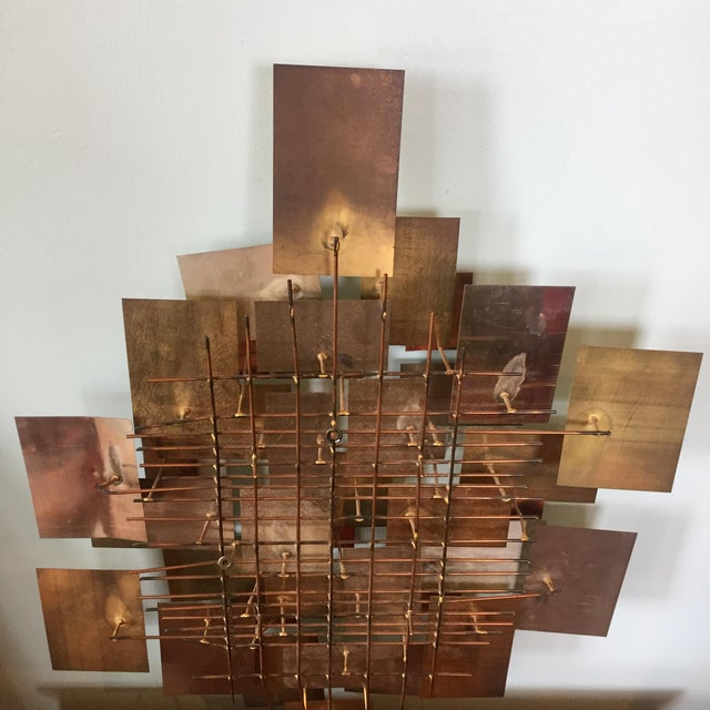 Mid 20th Century Brutalist Metal Wall Sculpture by Higgins For Sale - Image 5 of 7