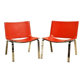 Italian Cattelan Lounge Chairs - a Pair