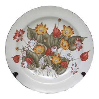 Speer Collectibles Autumn Leaf Floral Plate With Stand For Sale