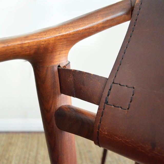 Gustav Bahus Vintage Rolf Rastad & Adolf Relling for Gustav Bahus Leather Bambi Chairs- a Pair For Sale - Image 4 of 9
