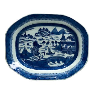 Early 19th Century Chinese Canton Platter For Sale