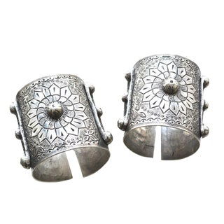 Egyptian Silver Cuffs For Sale