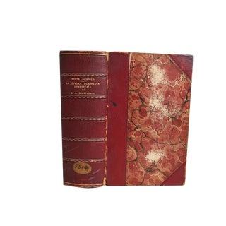 """""""La Divina Commedia"""" 1903 Italian Book For Sale"""
