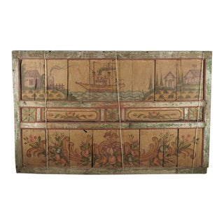 Antique Carved & Painted Dutch Panel For Sale