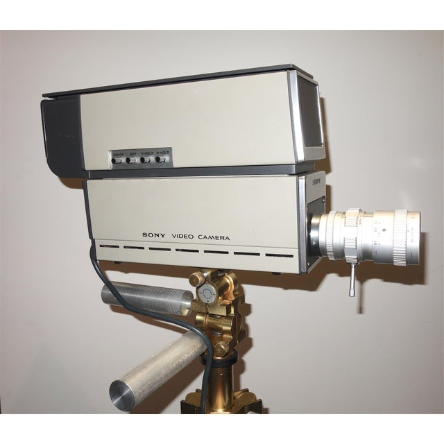 Late 20th Century Sony Vintage Vidicon Industrial Video Camera Circa 1969-70 Complete With Tripod. ON SALE For Sale - Image 5 of 11