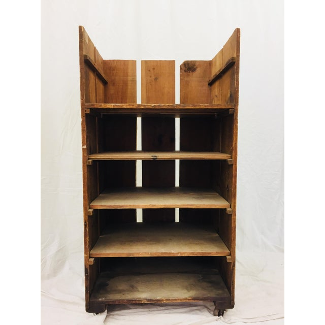 Antique Wood Factory Cart For Sale - Image 9 of 11