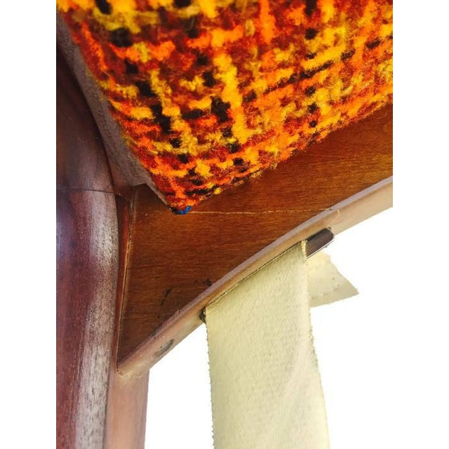 Mid Century Modern Wingback Chair Atomic Age Walnut Arm Chair All Original - Image 7 of 11
